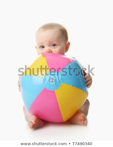Mooie baby strandbal jonge gelukkig glimlachend Stockfoto © lovleah