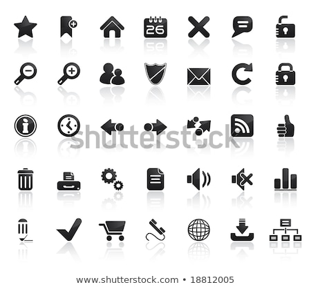 Web Icon Set. Easy To Edit Vector Image. Stock photo © place4design