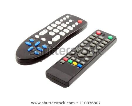 Távirányító tv cd játékos videomagnó izolált Stock fotó © borysshevchuk