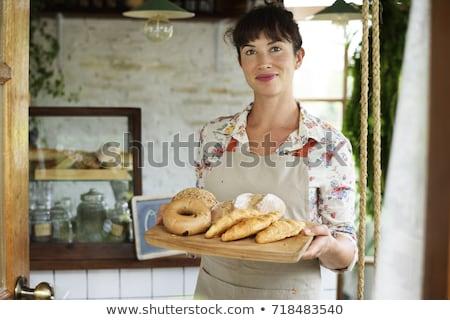 женщины · Бейкер · багет · женщину · продовольствие - Сток-фото © photography33