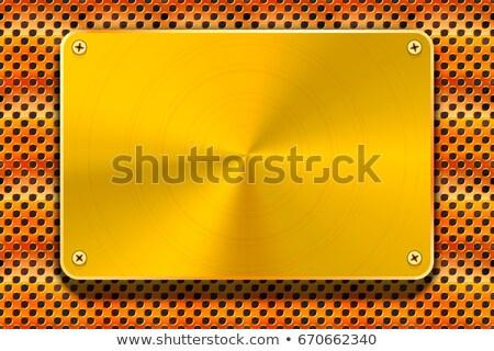 Geel metalen radiator industriële hi-tech textuur Stockfoto © pzaxe