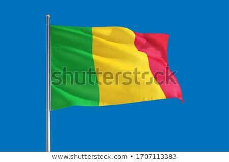Political waving flag of Mali Stock photo © perysty