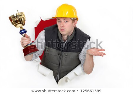 Manual worker with a trophy Stock photo © photography33
