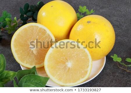 Fresh Organic Yellow  Grapefruit  stock photo © Kuzeytac