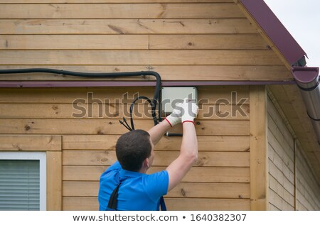 Electrocuted manual worker Stock photo © photography33