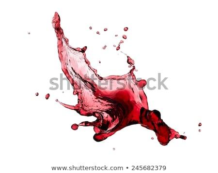 vörösbor · csobbanás · borospohár · buli · ital · fehér - stock fotó © toaster