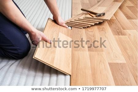 Man holding laminate floor panel Stock photo © photography33
