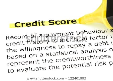 Credit Score highlighted in yellow Stock photo © ivelin