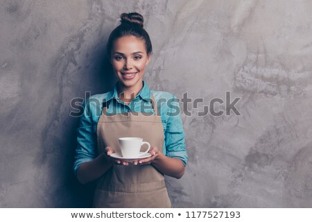 brunette offering coffee Stock photo © photography33