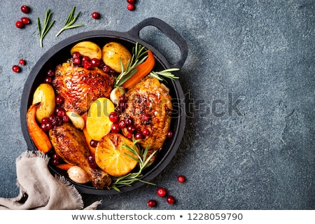 casserole with grilled meat and vegetables Stock photo © M-studio