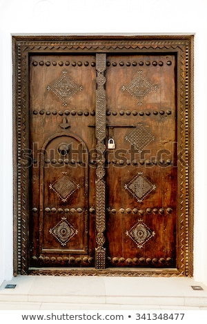 grunge · capeado · azul · puerta · textura · de · madera - foto stock © thp