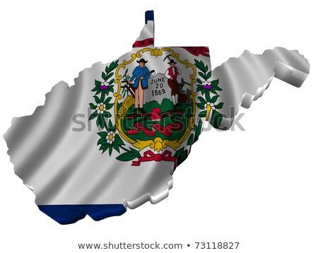 Западная Виргиния 3D набор иконки карта Сток-фото © cteconsulting
