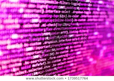 Código idioma negro LCD Screen resumen Foto stock © simpson33