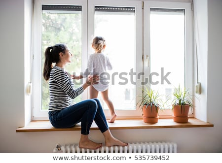 at a isolated window stand flowers stock photo © vavlt
