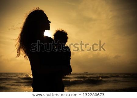 family with boy sundown 2 Stock photo © Paha_L