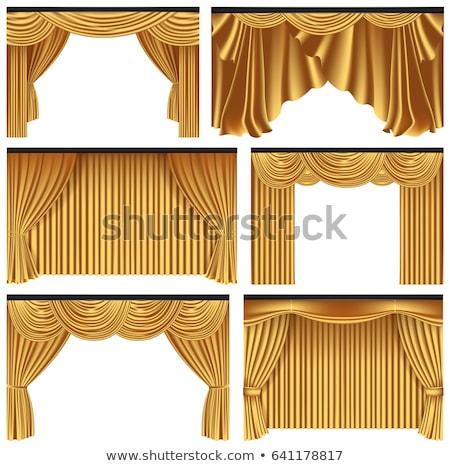 Gold curtain Stock photo © ixstudio