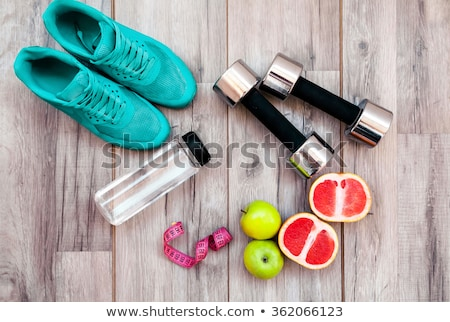 fitness · equipamento · trabalhar · corpo · bicicleta · piso - foto stock © bocosb