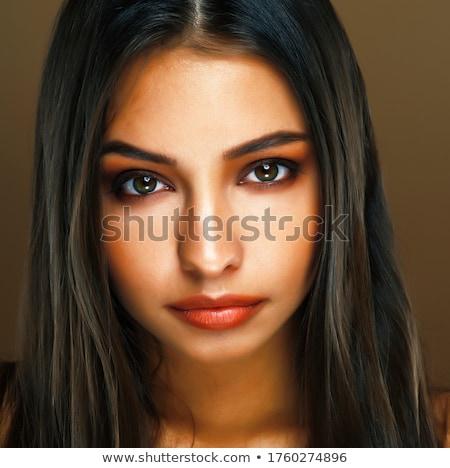 belo · morena · indiano · mulher · retrato - foto stock © lunamarina