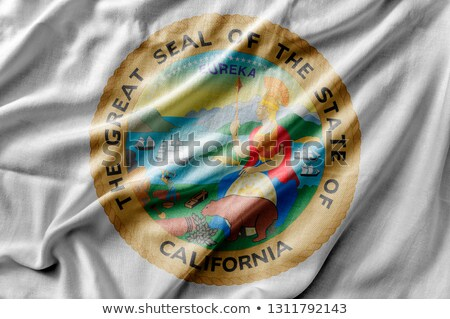 Linen flag of the US state of California  Stock photo © michaklootwijk