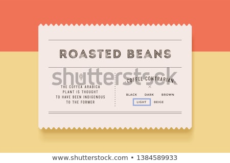 set of vintage badges with paper background stock photo © adamson