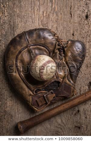 klasszikus · kesztyű · baseball · öreg · bent · kút - stock fotó © hofmeester