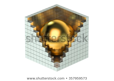 business partnership in golden cubes Stock photo © marinini