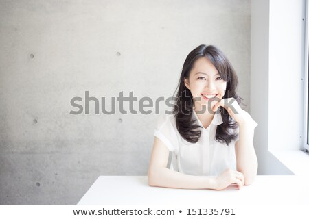 Beauty nature girl is waiting Stock photo © DNF-Style