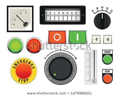 Emergency button on control panel Stock photo © FrameAngel