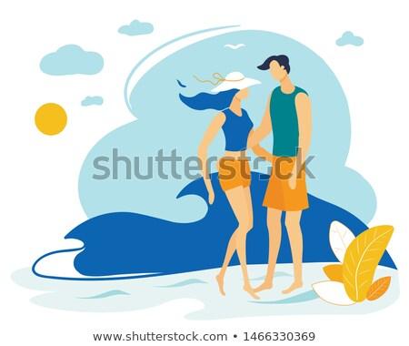 plaży · podróży · kobieta · spaceru · piasku - zdjęcia stock © anna_om