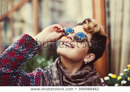close up portrait of a steam punk girl stock photo © nejron