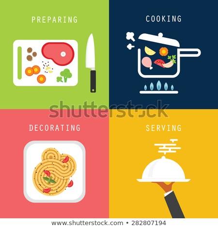 Fokhagyma petrezselyem gomba paradicsom tészta receptek Stock fotó © stevanovicigor