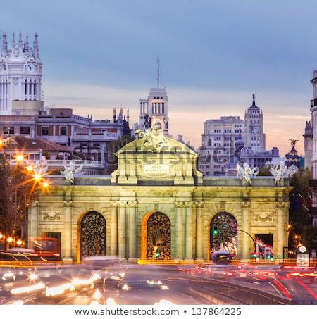 ulicy · Madryt · noc · Hiszpania · drogowego · autostrady - zdjęcia stock © nito