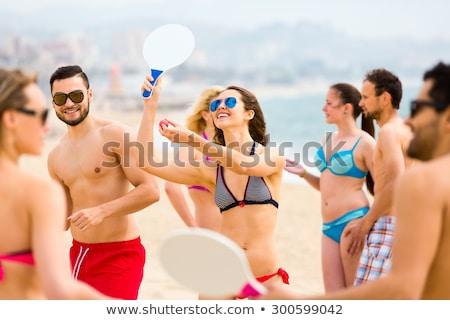 beach paddles and ball Stock photo © FOKA