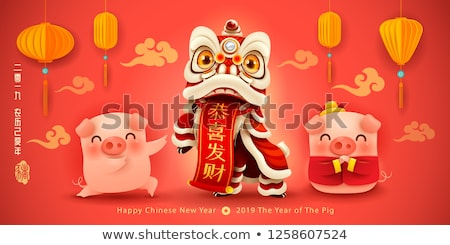 Kínai új év tekercs fehér jó piros kínai Stock fotó © dezign56