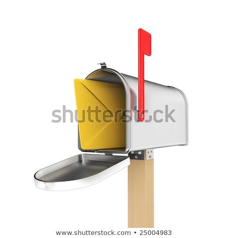 3D · nyitva · postaláda · 3d · render · kinyitott · fehér - stock fotó © blotty