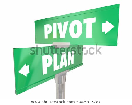 Rethink on Green Direction Arrow Sign. Stock photo © tashatuvango