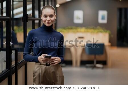 довольно служба женщину Открытый улыбаясь Сток-фото © dash