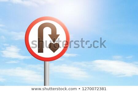 Namoro poste de sinalização azul edifício moderno coração quadro de avisos Foto stock © tashatuvango
