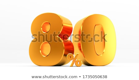 3D eighty percent Stock photo © Supertrooper