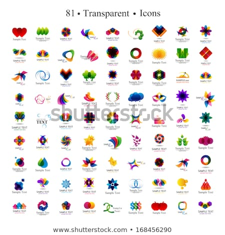 Rainbow colored floral design element or logo  Stock photo © shawlinmohd