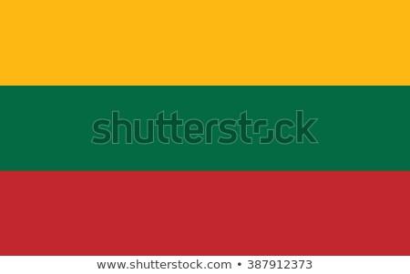 Zászló Litvánia kék ég kék felhő Stock fotó © ajt