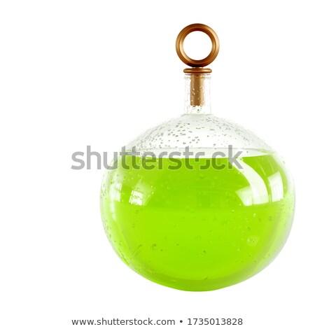 Groene glas geïsoleerd witte achtergrond restaurant Stockfoto © GeniusKp