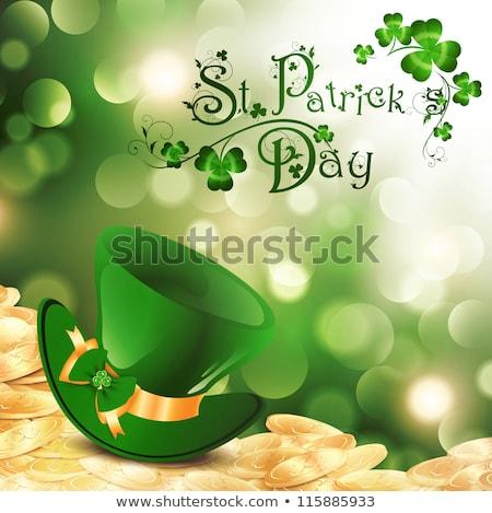 Giorno felice birra Hat monete irish Foto d'archivio © adrenalina