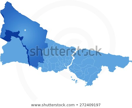 Istanbul Map with administrative districts where Catalca is pull Stock photo © Istanbul2009