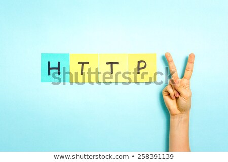 Finger Making V Sign With The Word Vote Stock photo © AndreyPopov