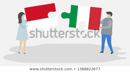 Indonesia and Italy Flags in puzzle Stock photo © Istanbul2009