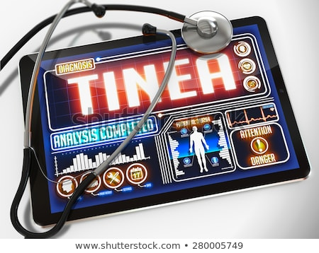 Tinea on the Display of Medical Tablet. Stock photo © tashatuvango