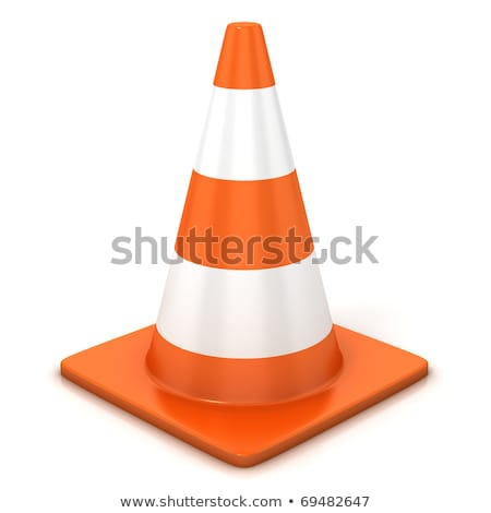 the 3d traffic cones isolated over white Stock photo © sdmix