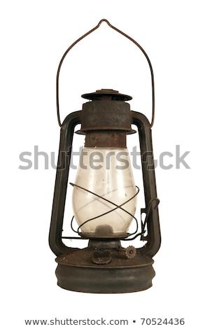 Oude stoffig geïsoleerd witte glas Stockfoto © ozaiachin