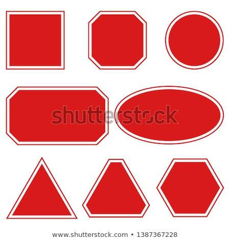 Figyelmeztető jel tér vektor piros ikon terv Stock fotó © rizwanali3d